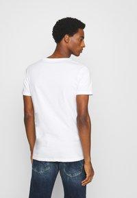 LTB - 3 PACK MULTI - Basic T-shirt - navy/bordeaux/white - 3