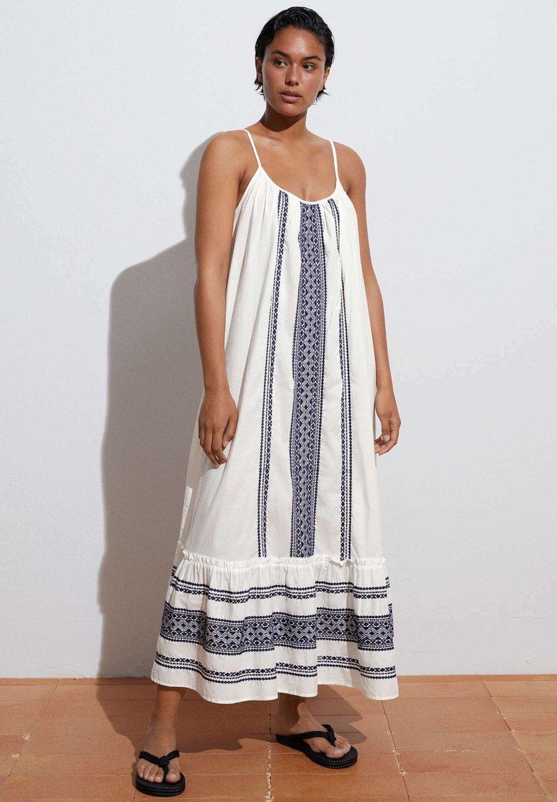 OYSHO - STRAPPY  - Day dress - white