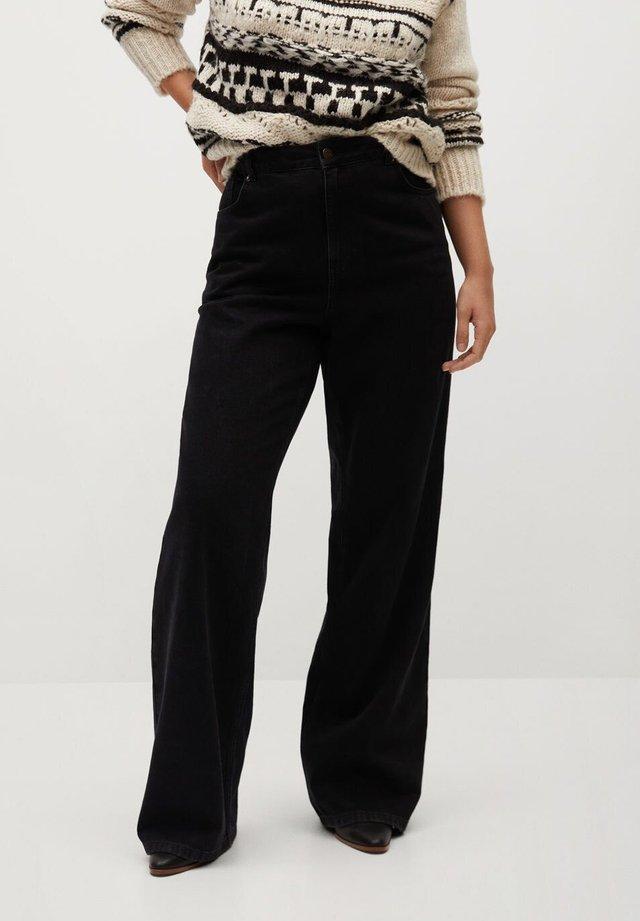 ERIKA-I - Flared Jeans - black denim