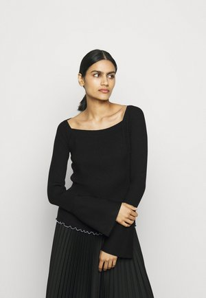 OPEN NECK SWEATER - Jersey de punto - black