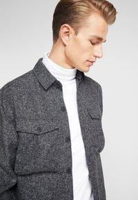 Solid - ANTON - Skjorta - dark grey melange - 3