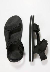 Slydes - NEVIS - Pantofle - black/white - 1