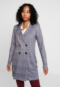 Nly by Nelly - CHECK BLAZER DRESS - Jerseykleid - black/white - 0