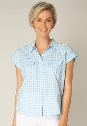 KANITA - Button-down blouse - heaven blue/white