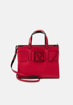 BIG TOTE - Across body bag - record red