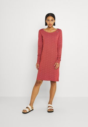 RIVER - Jersey dress - chili red