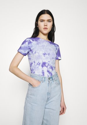 TIE DYE CAP SLEEVE - T-shirt med print - blue
