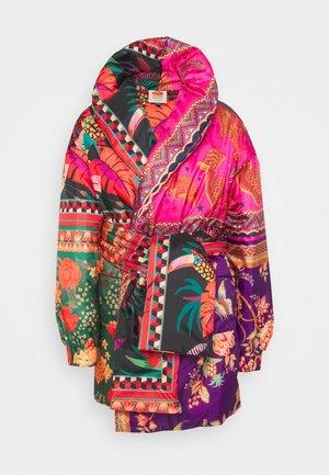 MIXED SCARVES KIMONO - Winter coat - multi