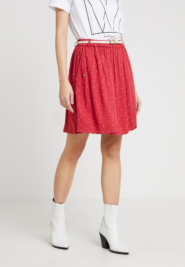 MARE - A-line skirt - chili red