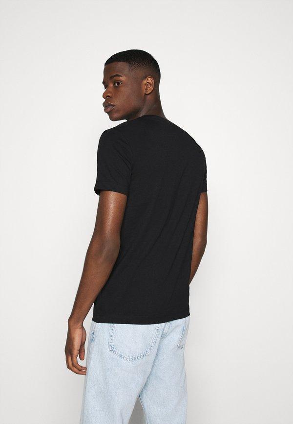Calvin Klein Jeans TEE INSTITUTIONAL LOGO 2 PACK - T-shirt z nadrukiem - black/czarny Odzież Męska MVEU