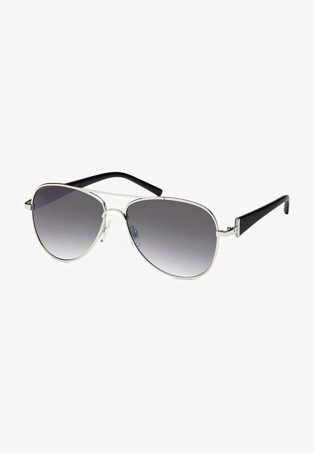 Sunglasses - gestell silber-schwarz / glas grau verlaufend