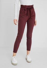 Vero Moda - VMEVA LOOSE PAPERBAG PANT - Trousers - port royale - 0