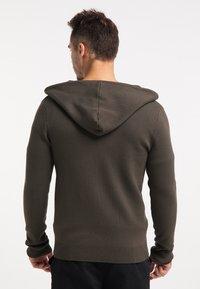TUFFSKULL - Zip-up hoodie - militär oliv - 2