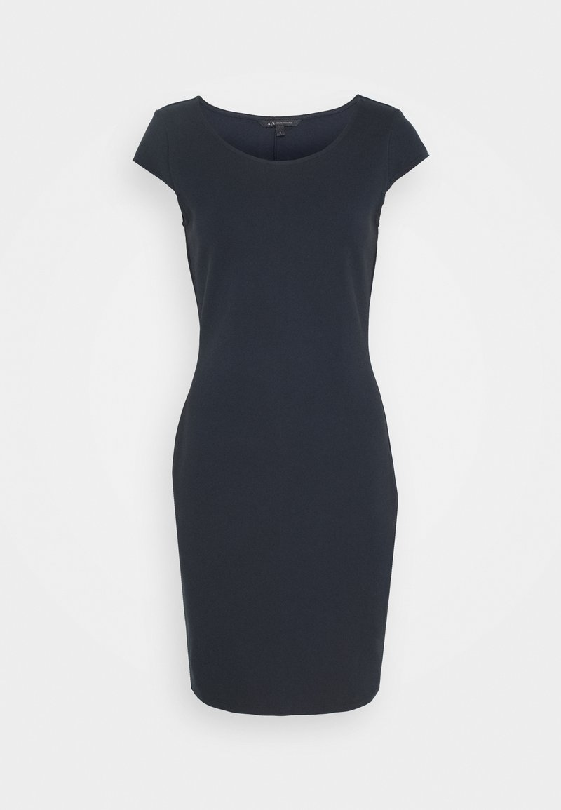 Armani Exchange - DRESS - Shift dress - navy