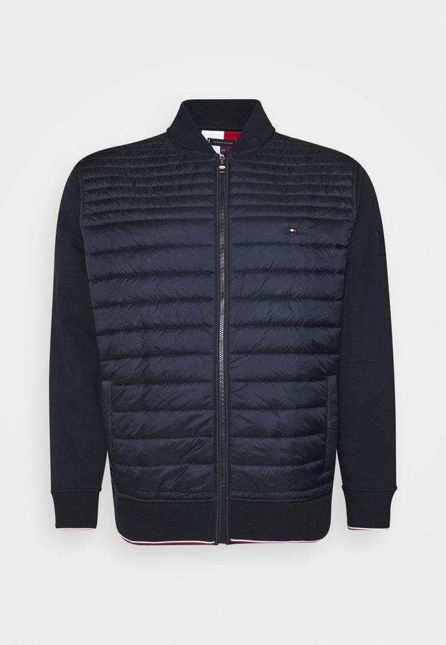 MIXED MEDIA BASEBALL ZIP - veste en sweat zippée - blue