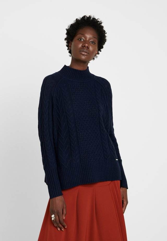 HIGH NECK - Pullover - marine blue