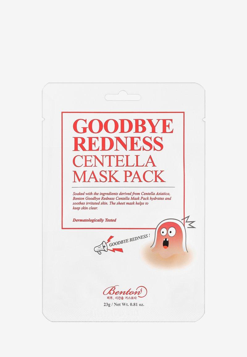 Benton - GOODBYE REDNESS CENTELLA MASK 3 UNITS - Ansiktsmask - -