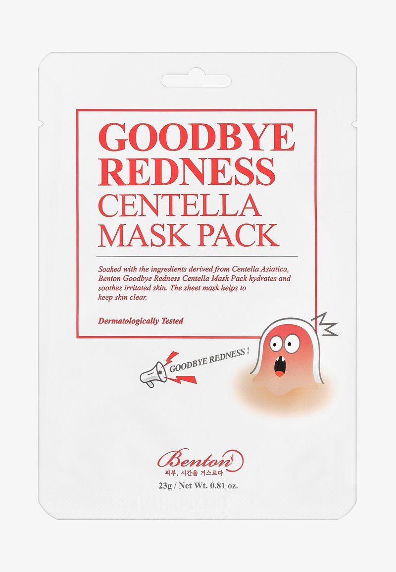 Benton - GOODBYE REDNESS CENTELLA MASK 3 UNITS - Gesichtsmaske - -