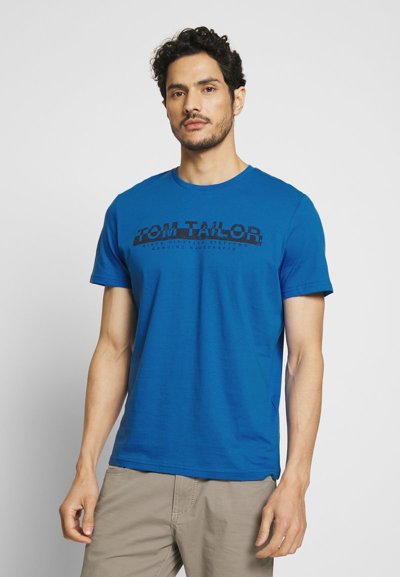 TOM TAILOR - Print T-shirt - victory blue