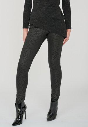 THE DIONA BLACK EMBOSSED PRINT  - Leggings - Trousers - black