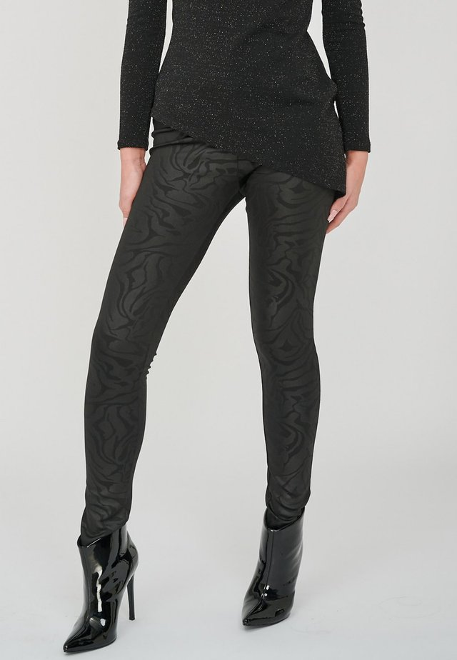 THE DIONA BLACK EMBOSSED PRINT  - Legging - black