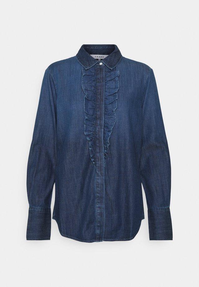 RUFFLE TUX TOP - Overhemdblouse - frame blue