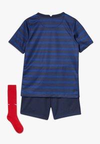 Nike Performance - FRANKREICH FFF LK NK BRT KIT HM SET - Sports shorts - blackened blue/white - 1