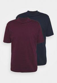 TURTLE 2 PACK - Basic T-shirt - navy