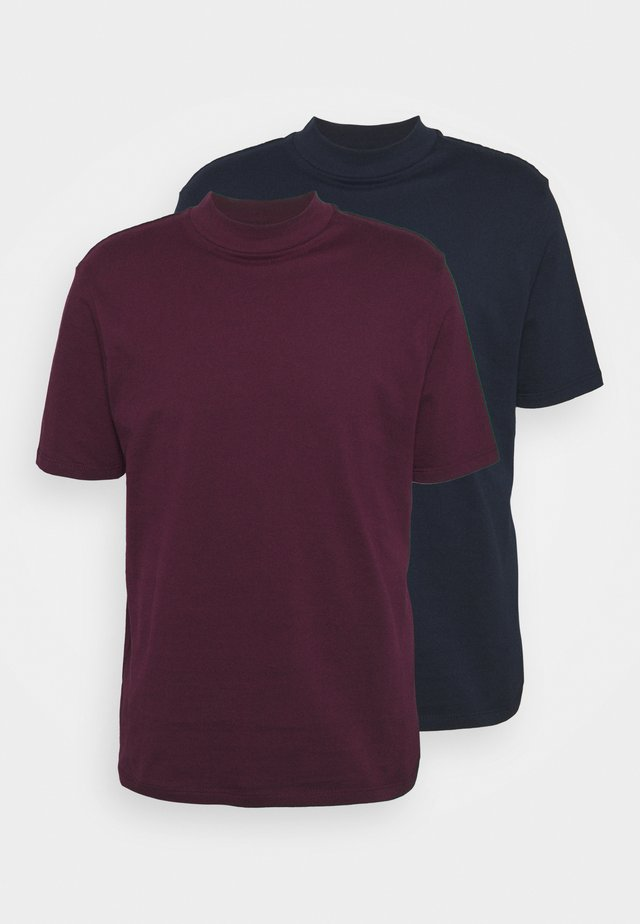 TURTLE 2 PACK - T-shirt basic - navy