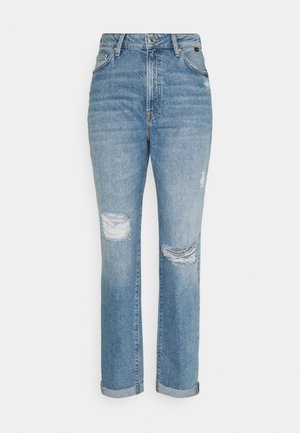 STELLA - Jeansy Relaxed Fit - light distressed denim