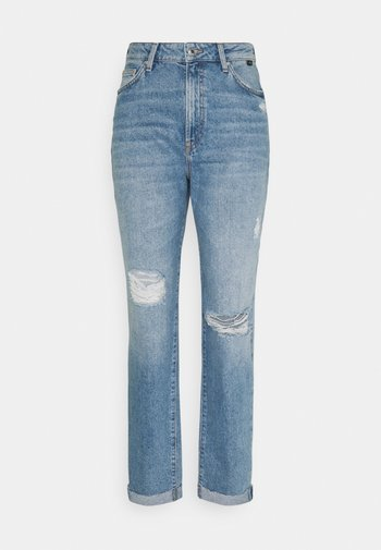 STELLA - Relaxed fit jeans - light distressed denim