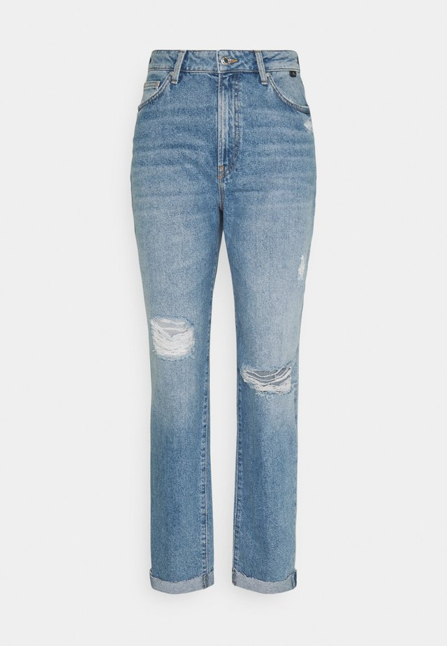 STELLA - Jean boyfriend - light distressed denim