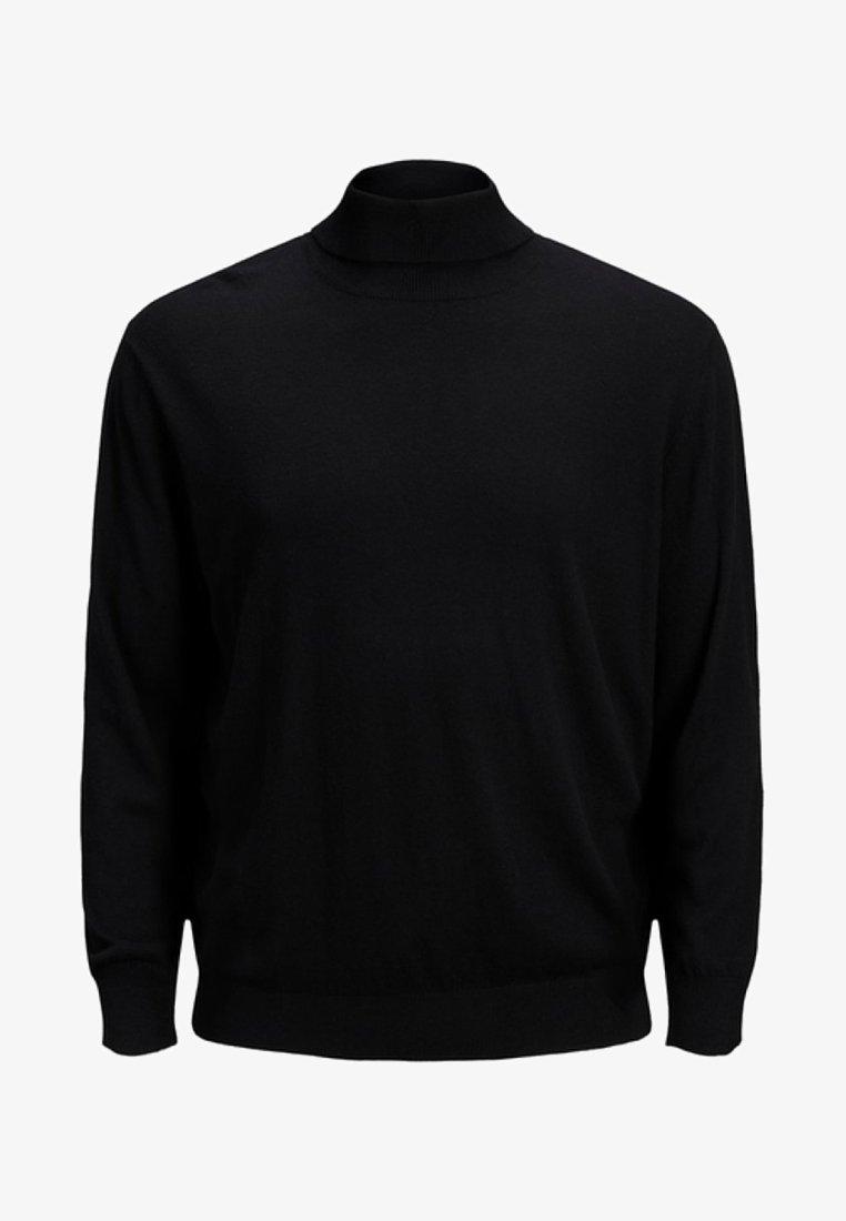 Jack & Jones - JJEEMIL ROLL NECK - Sweatshirt - black