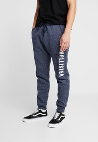 Hollister Co. - Tracksuit bottoms - navy - 0