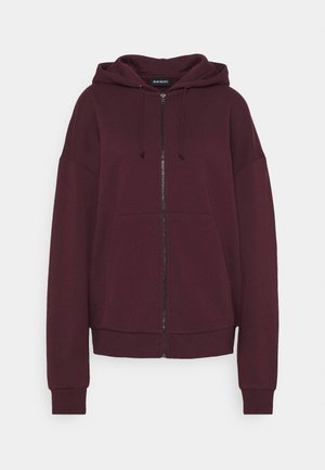 Oversized Zip Through Hoodie Jacket - Mikina na zip - bordeaux