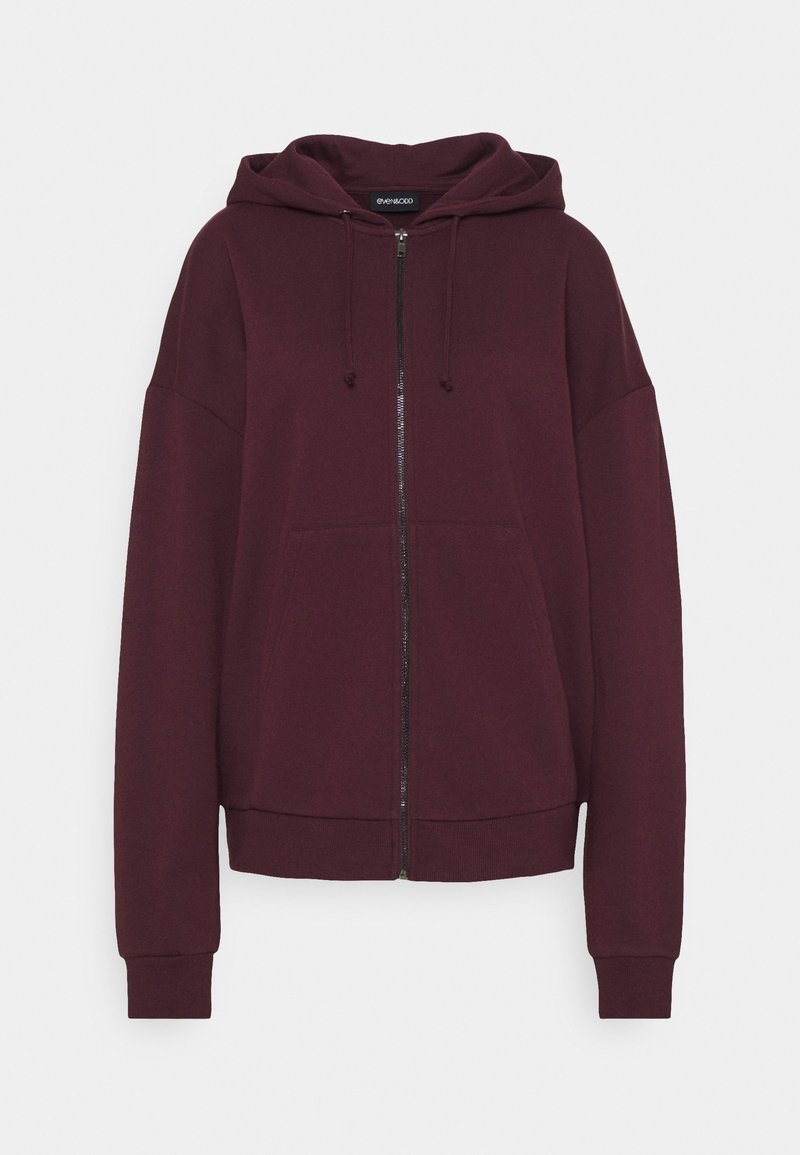 Even&Odd - Oversized Zip Through Sweat Jacket - Felpa aperta - bordeaux