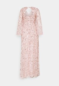 Maya Deluxe - ALL OVER 3D EMBELLISHED DRESS WITH BELL SLEEVE - Abito da sera - pearl pink - 1