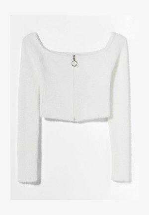 MIT CARMEN-AUSSCHNITT  - Cardigan - white