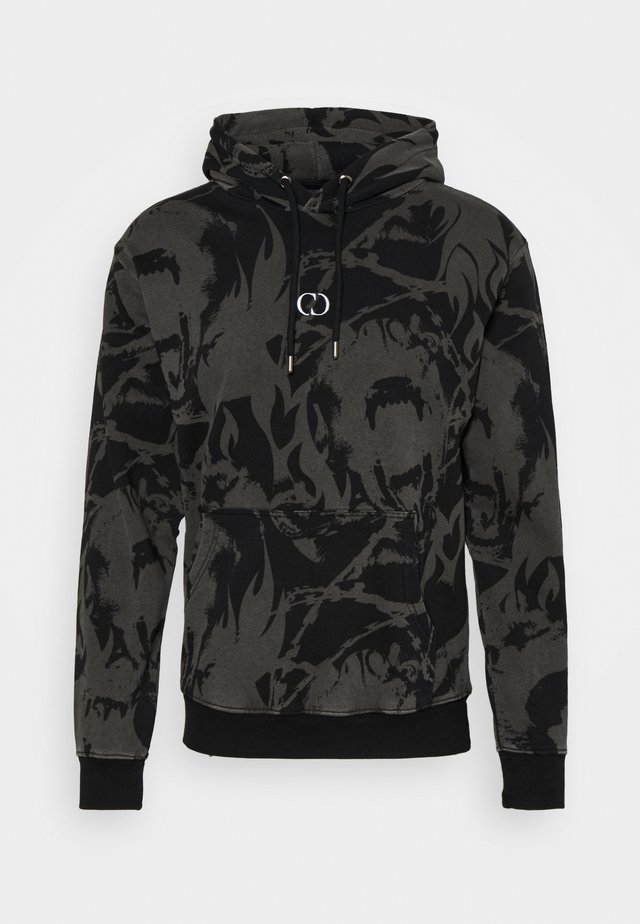 ABSTRACT HOOD - Felpa - black