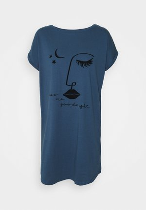 NIGHTIE CAPS NECK - Nightie - insignia blue
