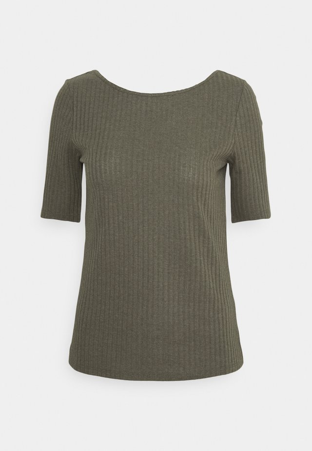 POINTELLE - Print T-shirt - light khaki