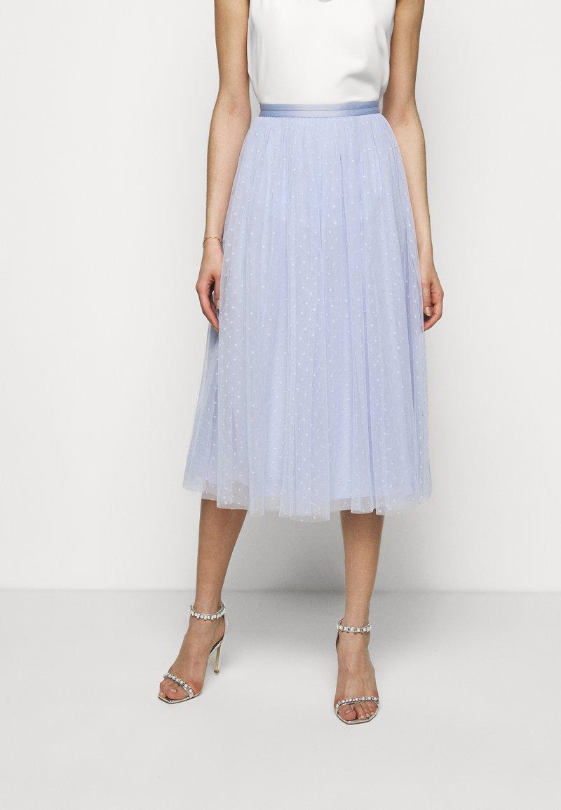 Needle & Thread - KISSES MIDAXI SKIRT - Áčková sukně - wedgewood blue