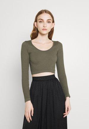 ONLGWEN CROP - Long sleeved top - kalamata