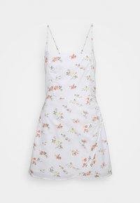 Abercrombie & Fitch - BARE WRAP SHORT DRESS - Kjole - white - 4