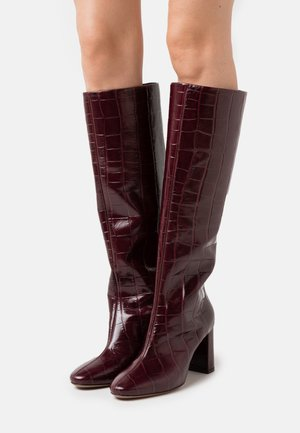BOOT NO ZIP - Boots - burgundy