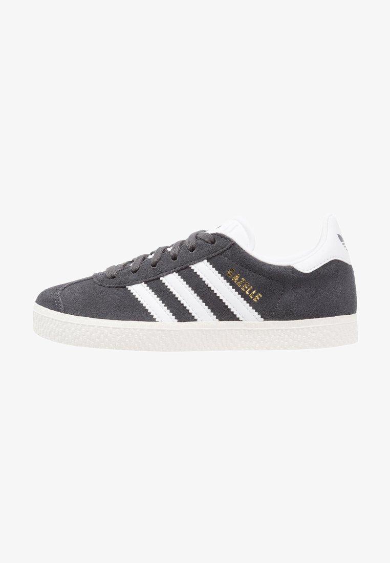 adidas Originals - GAZELLE - Trainers - solid grey/white/gold metallic