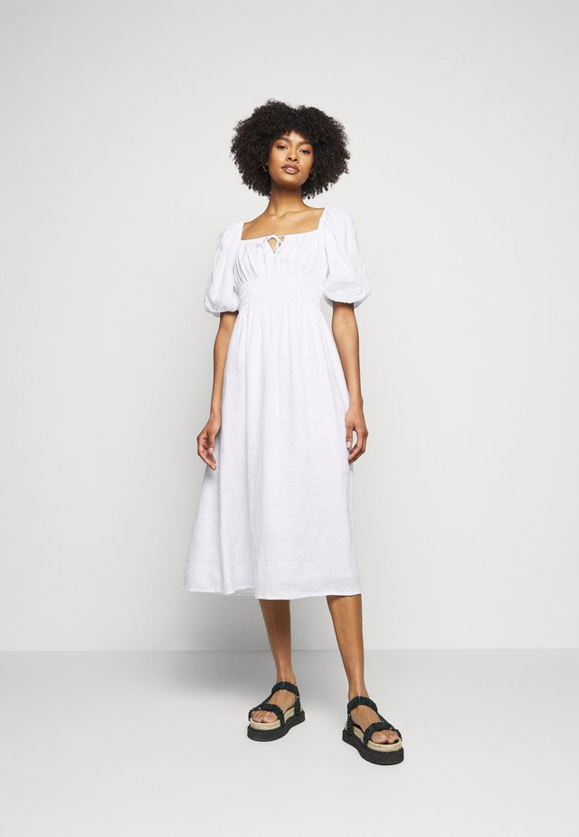 MAURELLE MIDI DRESS - Denní šaty - plain white