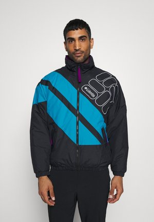 SIDELINE - Winter jacket - black/fjord blue