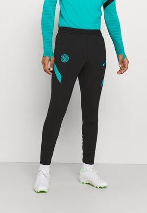 INTER MAILAND PANT - Tights - black/turbo green