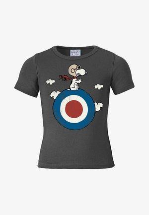 SNOOPY - TARGET - Print T-shirt - blaugrau
